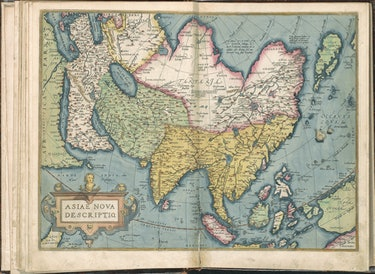 Abraham Ortelius map of Asia