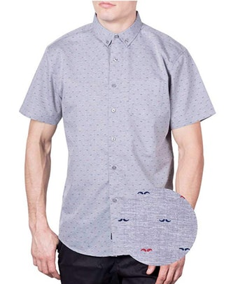 Visive Original Printed Short Sleeve Button Down Shirt