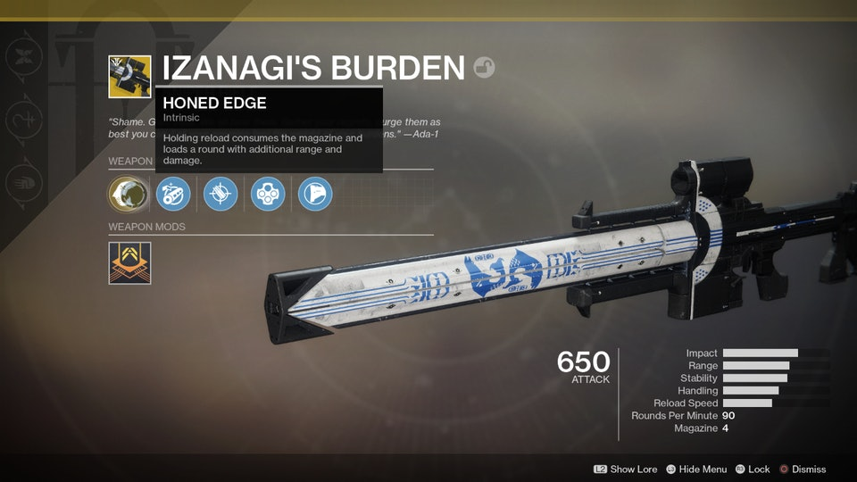 'Destiny 2' Isanagi's Burden