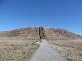 The Cahokia mounds.