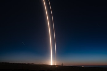 Falcon 9 just after takeoff.