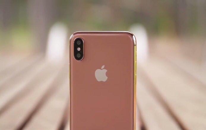 Blush gold iphone