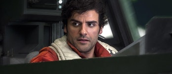 Poe Dameron as he appears in 'The Last Jedi.'