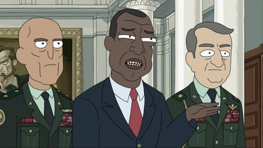 Keith David voices the President of the United States on multiple episodes of 'Rick and Morty'.