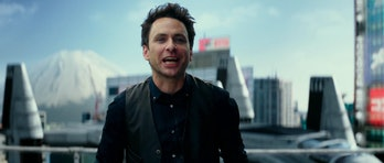 Charlie Day as Dr. Newt Geiszler in 'Pacific Rim Uprising'.