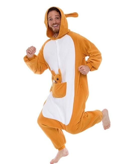 Plush Kangaroo One Piece Animal Costume