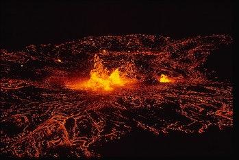 Hawaii Volcano Kilauea eruption lava