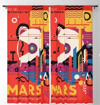 Retro Mars Vacation Ad from NASA Blackout Curtain