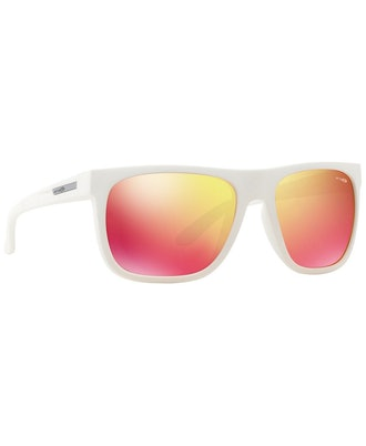 Arnette Sunglasses, AN4143 FIRE DRILL FUZZY WHITE/ RED MULTILAYER