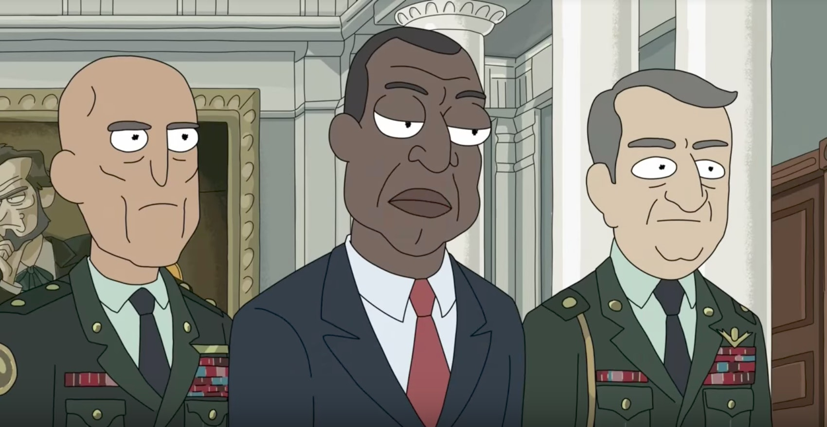 The President on 'Rick and Morty'.