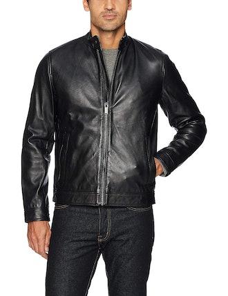 Calvin Klein Men's Leather Moto Jacket