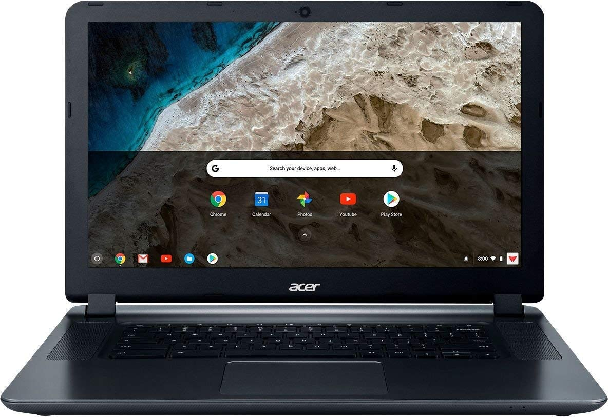 """2018 Acer 15.6"""" HD WLED Chromebook with 3X Faster WiFi Laptop Computer, Intel Celeron Core N3060 up to 2.48GHz, 4GB RAM, 16GB eMMC, 802.11ac WiFi, Bluetooth 4.2, USB 3.0, HDMI, Chrome OS"""