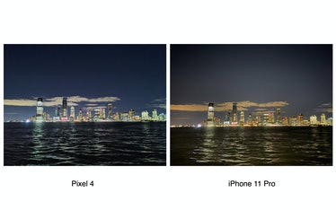 Pixel 4 Night Sight vs. iPhone 11 Pro Night Mode.