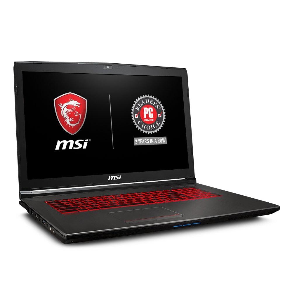 "MSI GV72 8RE-007 17.3"" Thin and Light Gaming Laptop GTX 1060 3G i7-8750H (6 Cores) 16GB 256GB SSD + 1TB Windows 10, VR Ready, Windows 10 64 bit"