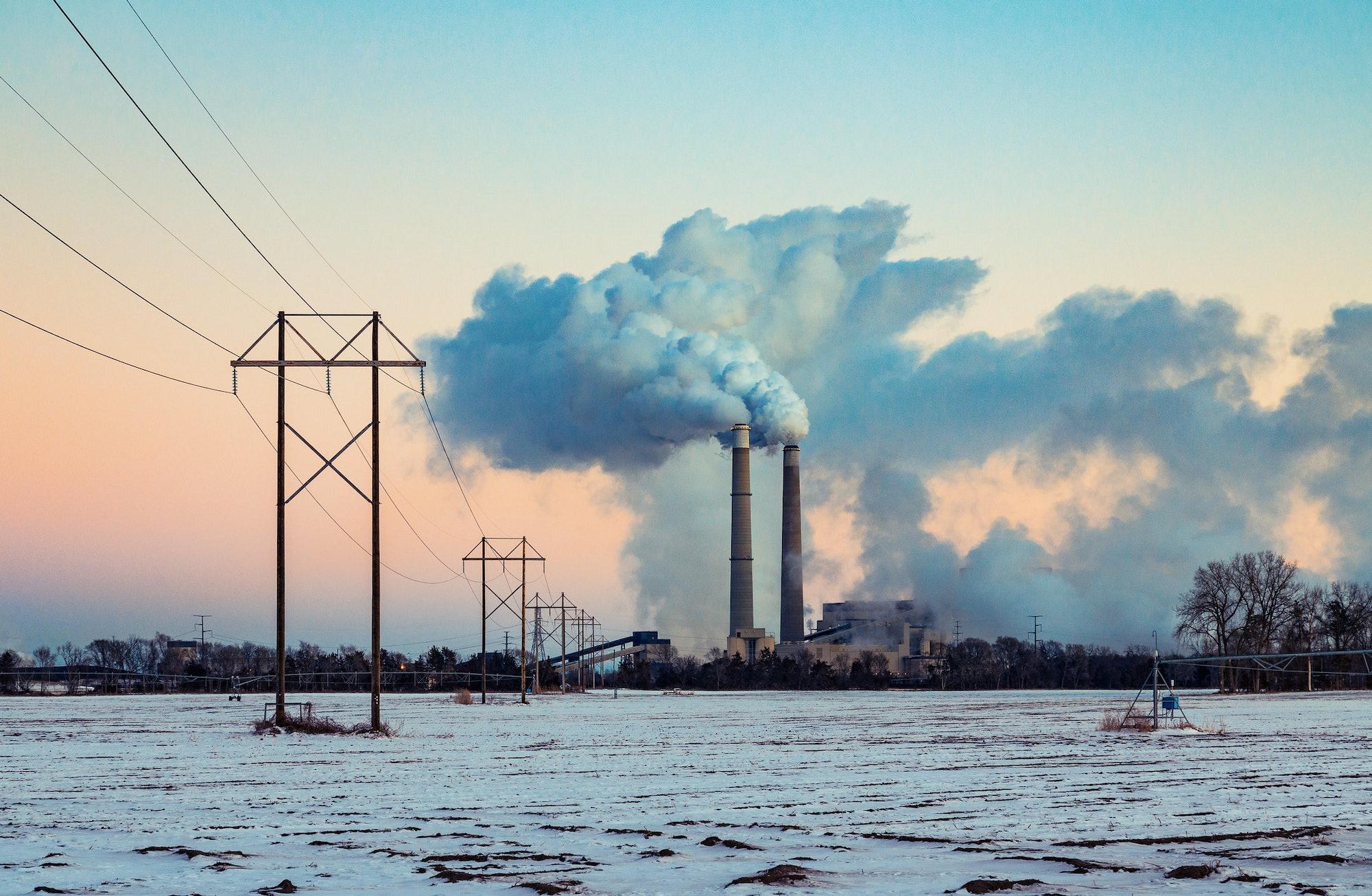 coal power plant pollution smoke stacks