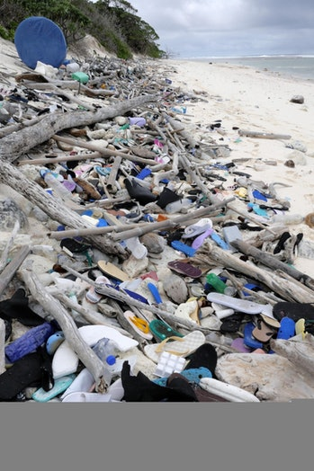 coco islands plastic trash