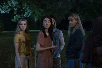 Kathryn Newton, Natasha Liu Bordizzo, and Rachel Keller in 'The Society'