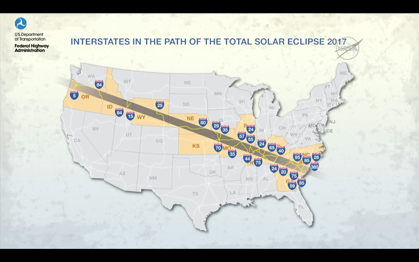 DOT august 21 solar eclipse