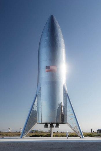 Starship test hopper ship
