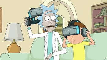 Rick and Morty Rickchurian Mortydate Minecraft VR