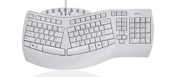 "Perixx PERIBOARD-512 Ergonomic Split Keyboard - Natural Ergonomic Design - White - Bulky Size 19.09""x9.29""x1.73"""