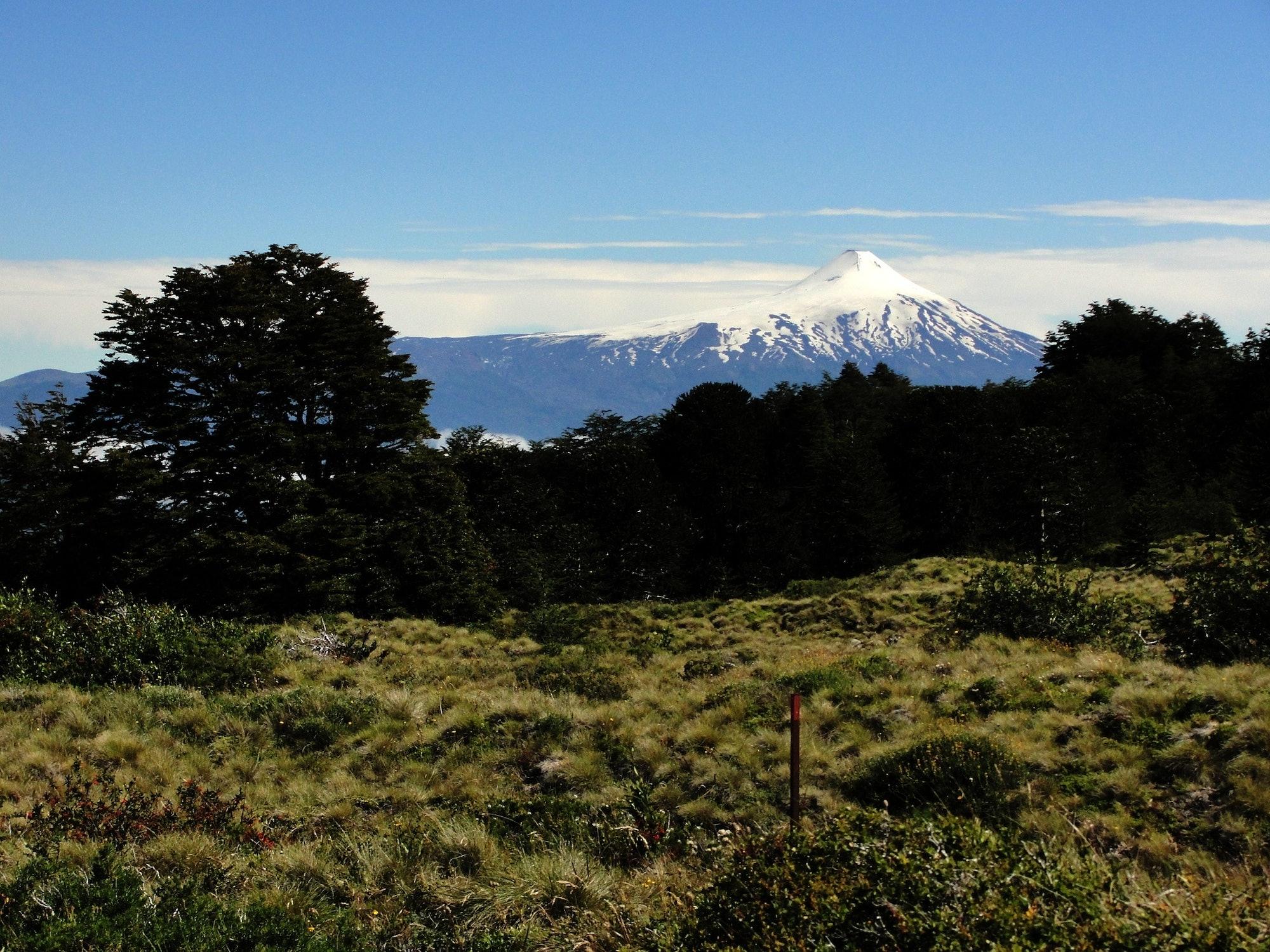 Volcán Villarrica desde el Quinchol