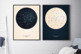 Printed Star Map