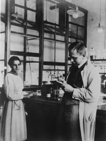 Lise Meitner and Otto Hahn in Berlin, 1913.