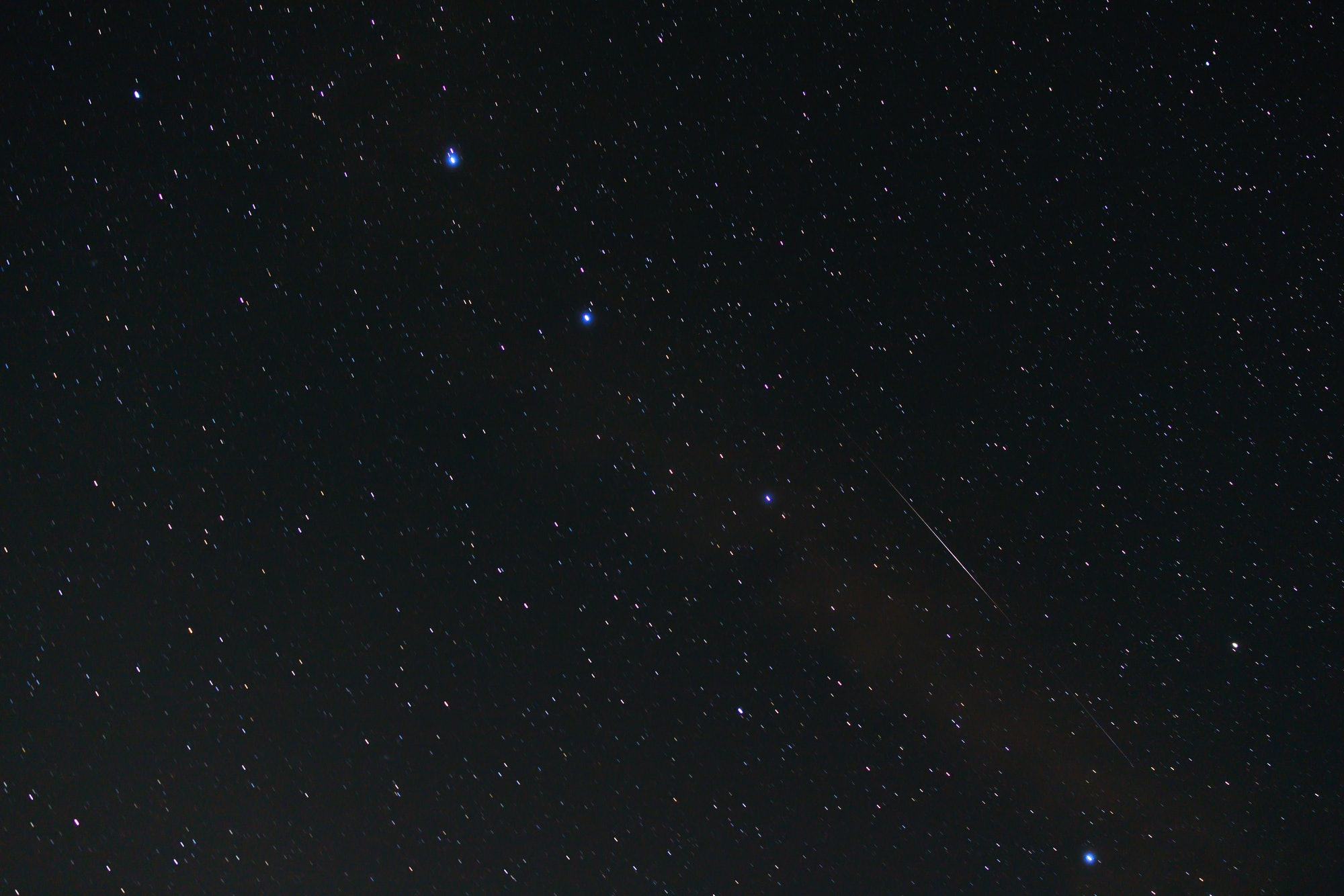 Big Dipper with Perseid Meteor going through it