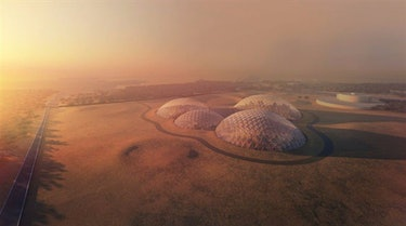 Concept art of Dubai's Mars City.