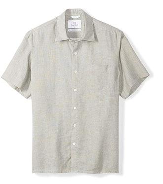 Amazon Brand - 28 Palms Men's Standard-Fit Short-Sleeve 100% Linen Shirt