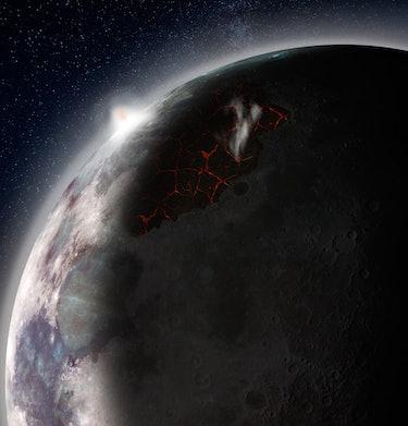 Volcano Moon Lunar