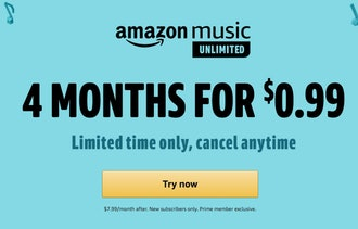 4 Months of Amazon Music for $.99