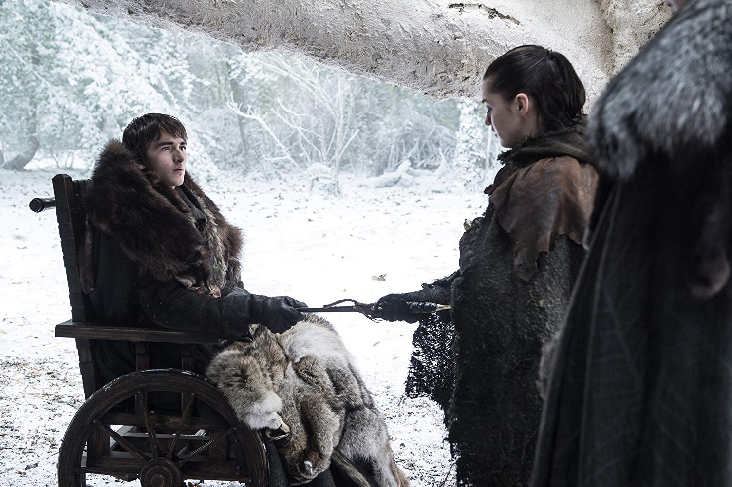Isaac Hempstead Wright and Maisie Williams on 'Game of Thrones' Season 8