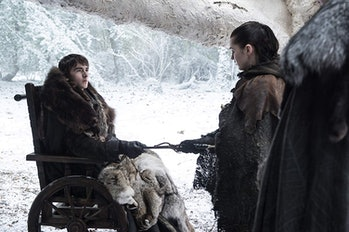 Isaac Hempstead Wright and Maisie Williams on 'Game of Thrones' Season 8