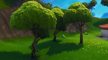 These types of trees tend to have apples on the ground underneath them in 'Fortnite: Battle Royale'.