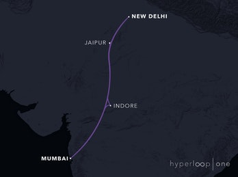 Mumbai-New Delhi route.