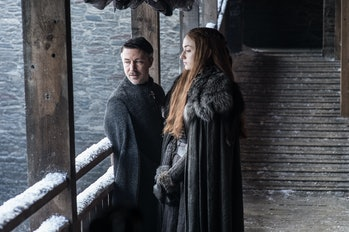 Aiden Gillen and Sophie Turner in 'Game of Thrones' Season 7