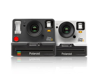 Polaroid OneStep 2 Camera In White With B&W Film + Photobox Bundle