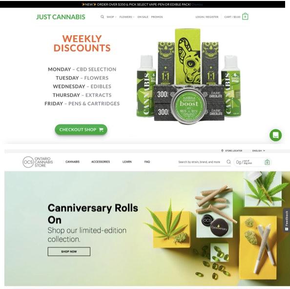Just Cannabis, illegal online