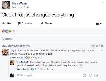 Eliza Wasni's Facebook page.