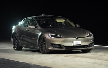 A Tesla Model S P100D, one of the vehicles set to receive full autonomy at a later date.