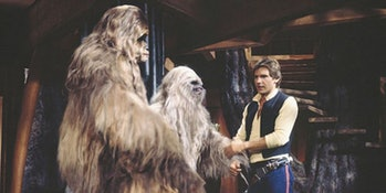 Chewie's family from the 'Star Wars Holiday Special' were made semi-canon in 'Solo'