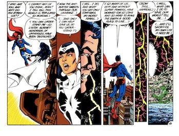 Crisis on Infinite Earths Arrow White Light Superman