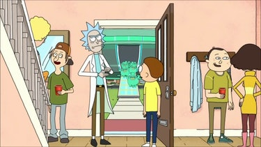 Rick, Morty, and Summer throw a party while Beth and Jerry go to a Titanic-themed amusement park.