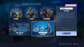 'Fortnite' Playground Mode