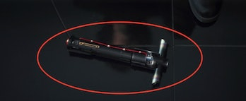 Kylo's lightsaber from 'The Last Jedi'