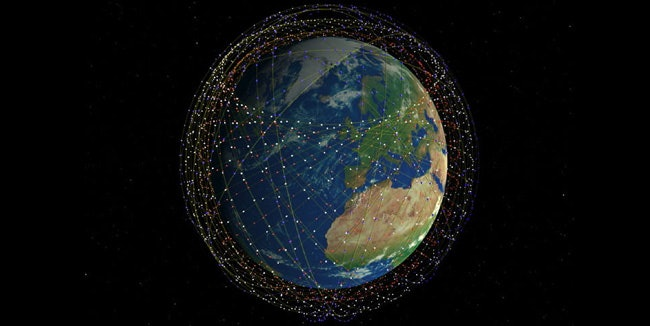 The future of Earth's orbit? No regulation exists to prevent any country from launching thousands of satellites