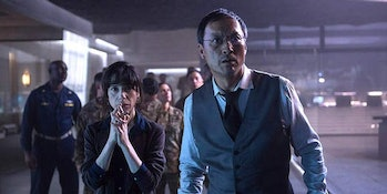 Sally Hawkins and Ken Watanabe in 'Godzilla: King of the Monsters'