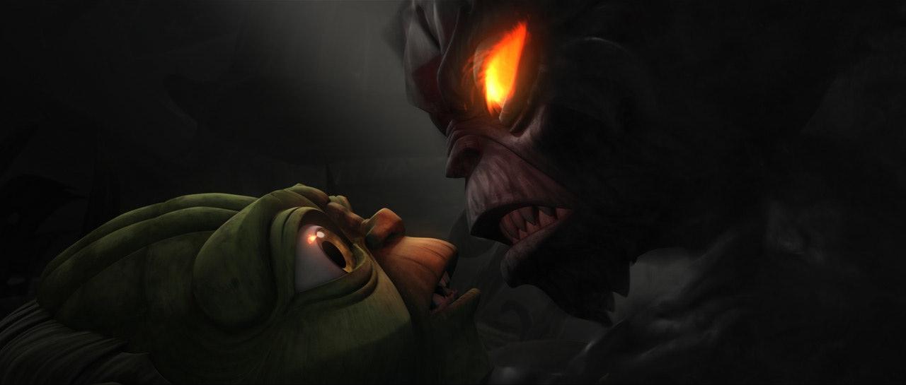 clone wars yoda versus dark yoda